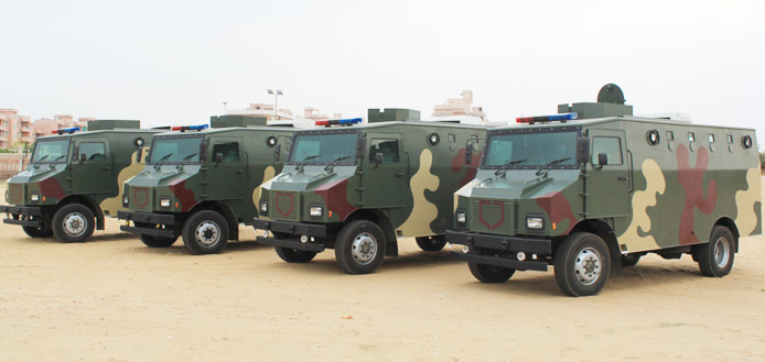 armoured vehicles